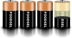3.4 size D batteries