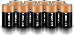 9.1 size D batteries