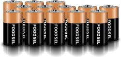 13.4 size D batteries