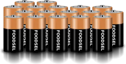 17.1 size D batteries