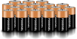 18.7 size D batteries