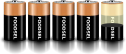 4.4 size D batteries