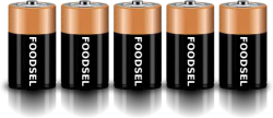5.3 size D batteries