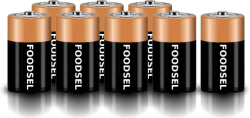 8.9 size D batteries